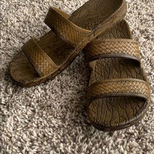 brown classic jandals pali hawaii sandals  sz 7
